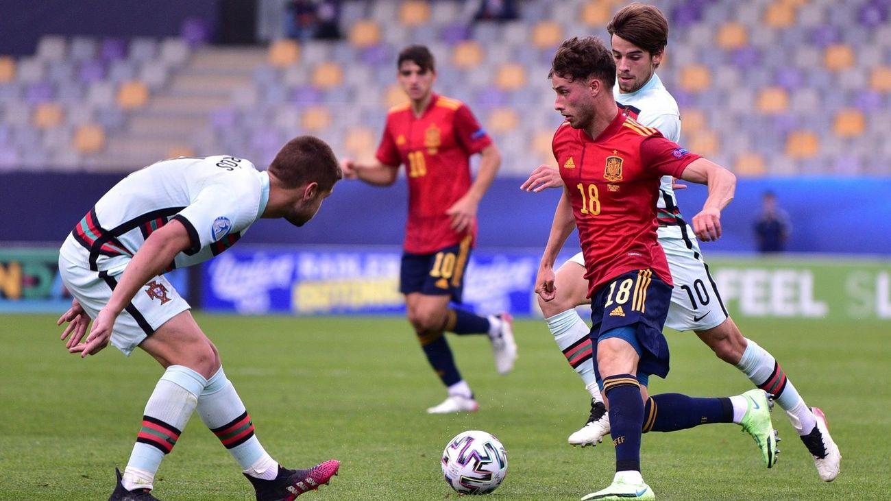 0-1. Un gol en propia puerta deja a España sin final en la Eurocopa sub'21