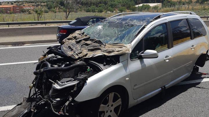Herido conductor en la A-2, en Torrejón, tras dar varias vueltas de campana en un accidente