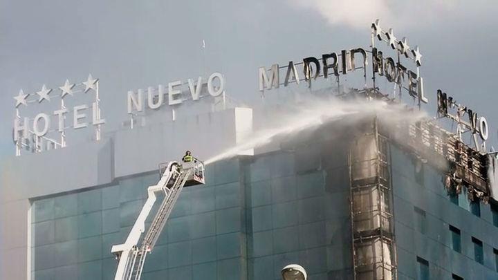 Controlado el incendio del Hotel Nuevo Madrid sin registrarse heridos