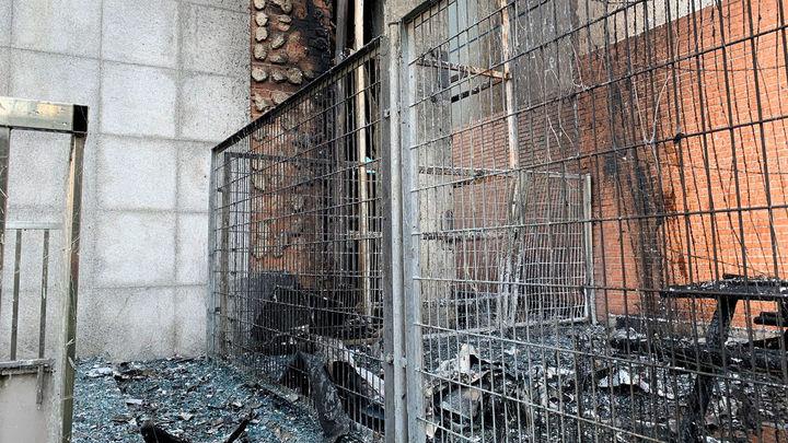La barra de un bar en la planta baja, posible origen del incendio en el Hotel Nuevo Madrid
