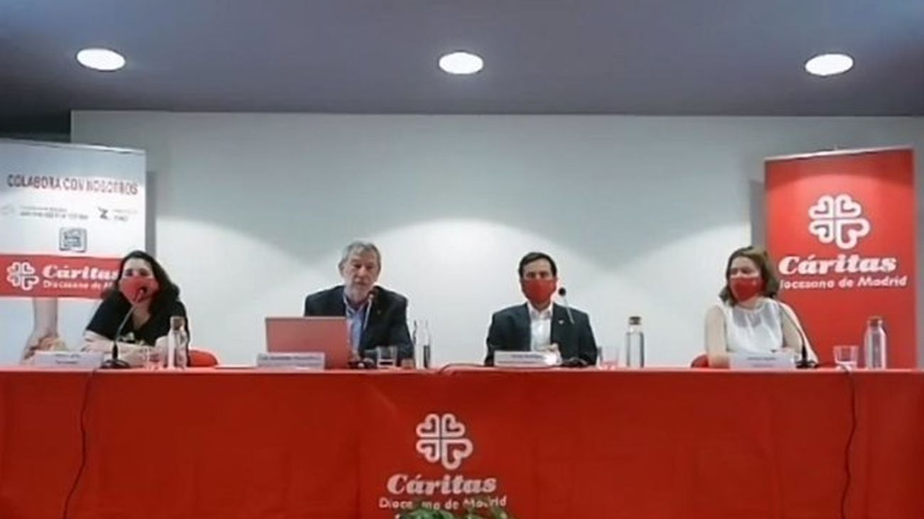 Presentación de la Memoria anual de Cáritas Madrid