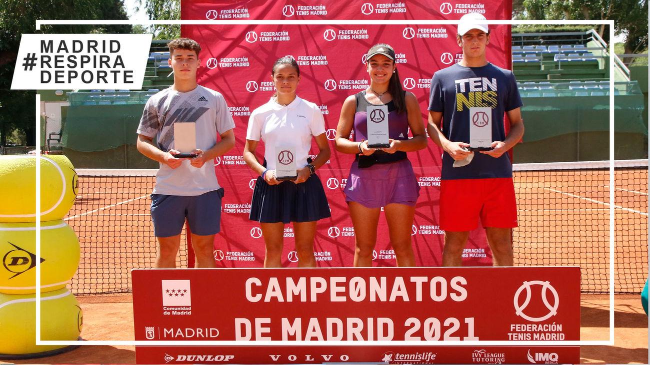 Campeones y finalistas de Madrid juvenil de tenis
