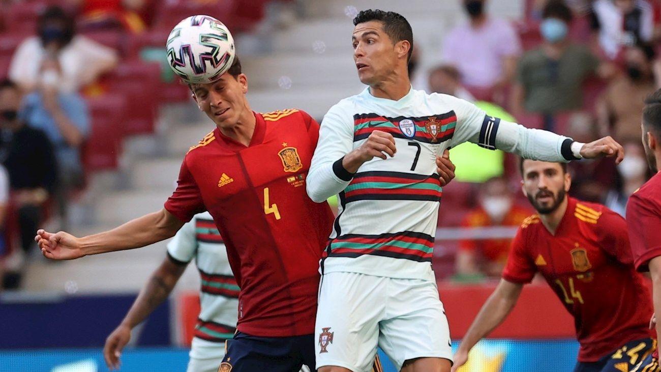 Cristiano Ronaldo y Laporte
