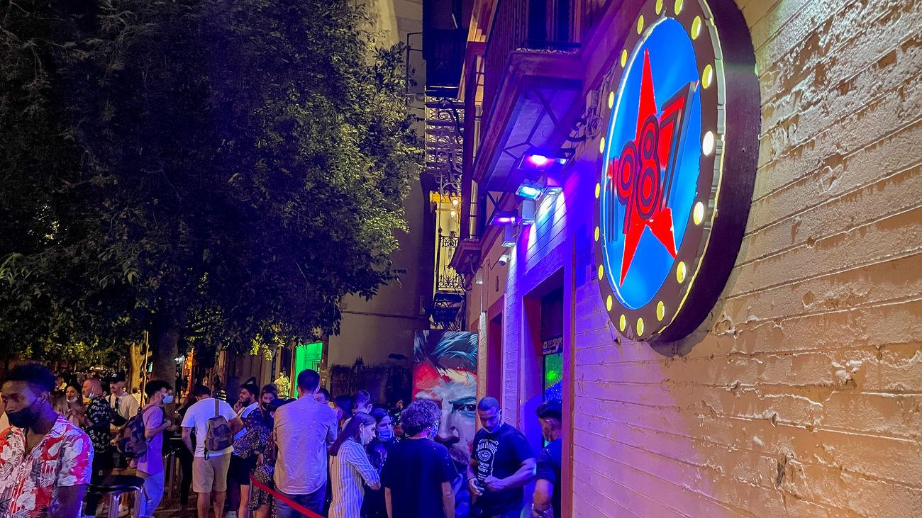 Exterior de una discoteca