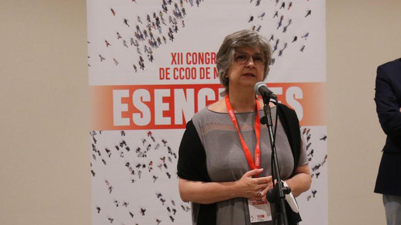 Paloma López,  secretaria general de CCOO de Madrid