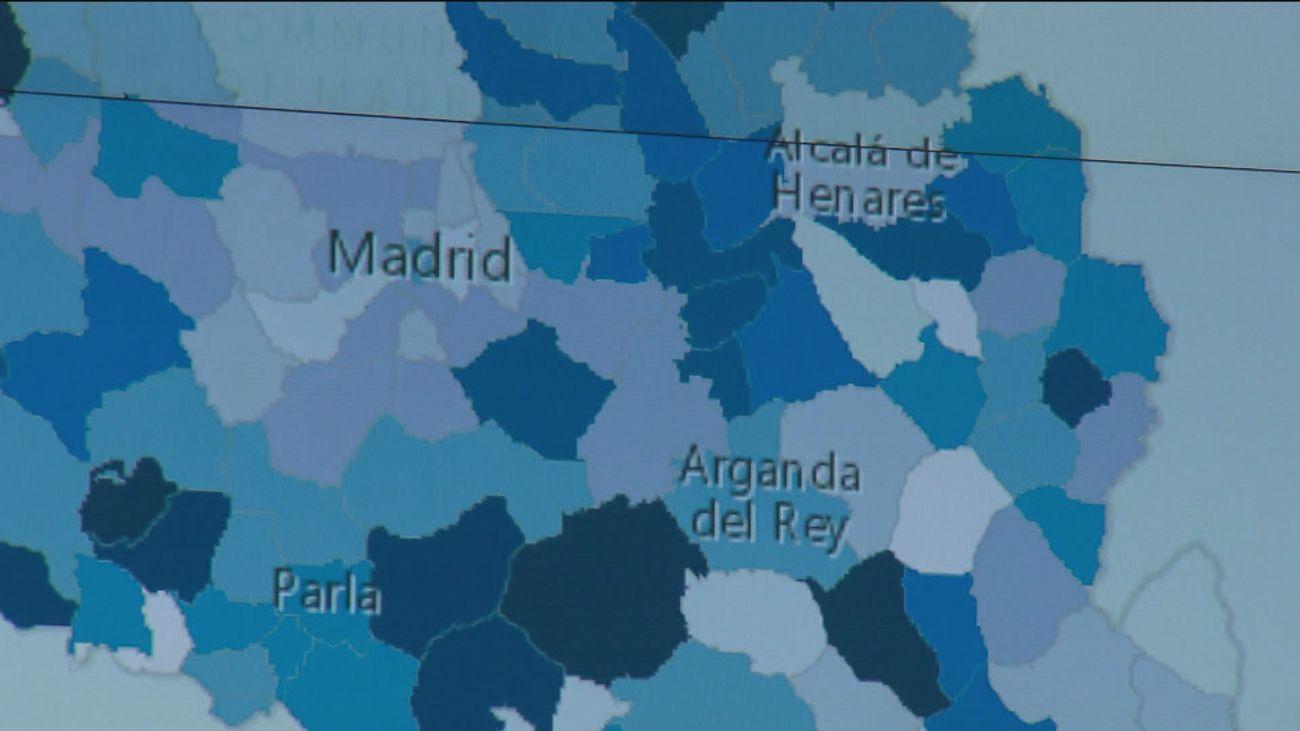 Madrid capital, nivel bajo de covid, según el mapa del sistema Vigía