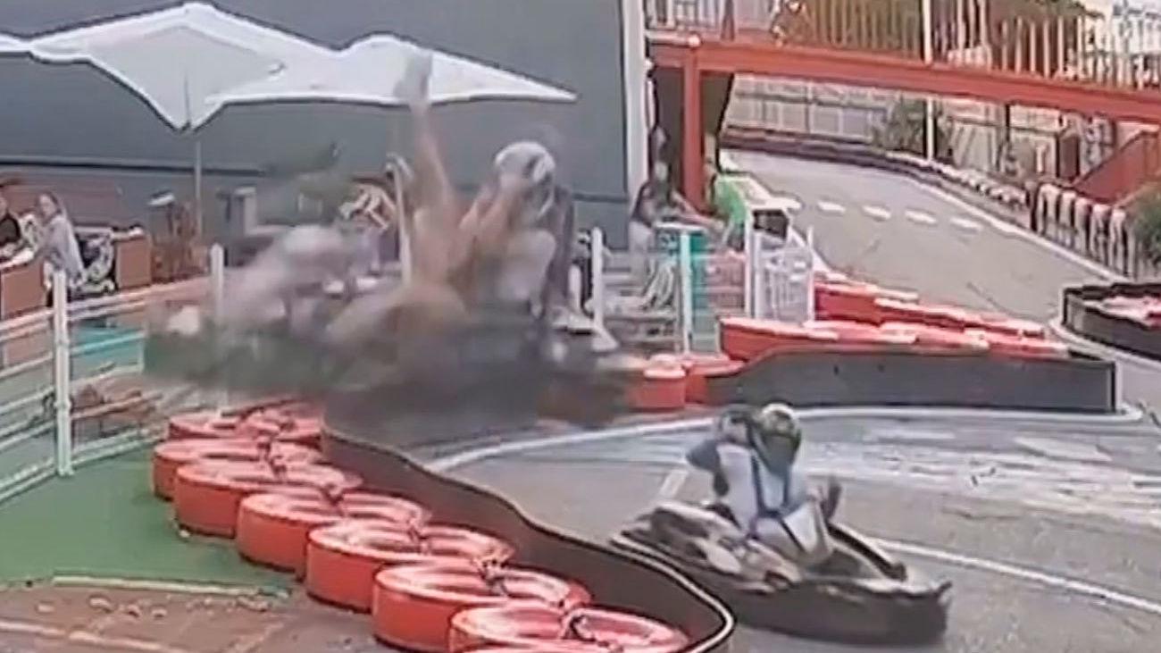 Impactante accidente en un circuito de karts en Rivas Vacimadrid