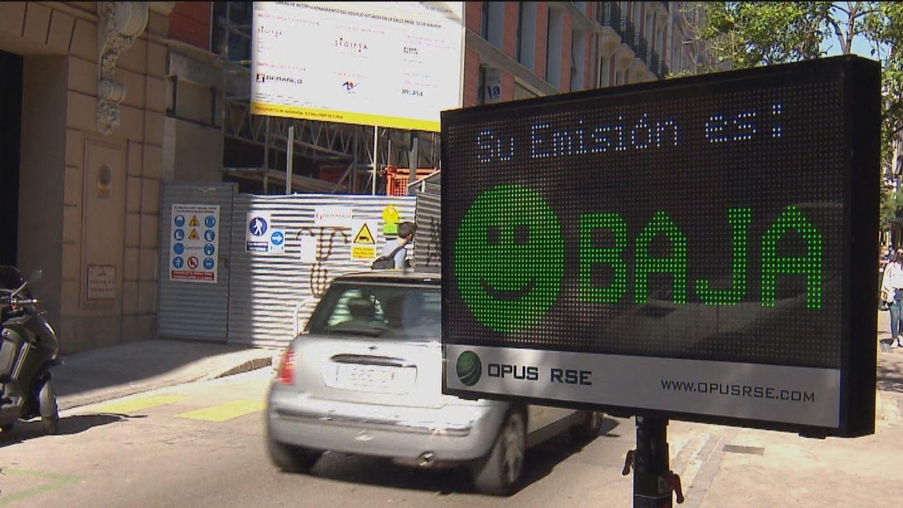 Se estrena en Madrid un radar que no mide la velocidad, sino los humos del tubo de escape