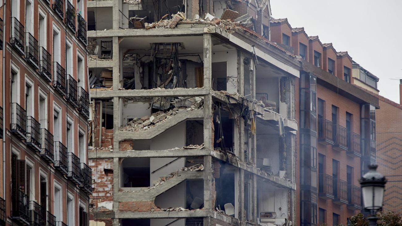 Estado en el que quedó el edificio de la calle Toledo tras la explosión