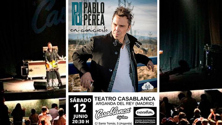 Pablo Perea repasará su carrera en un concierto para nostálgicos en Arganda del Rey