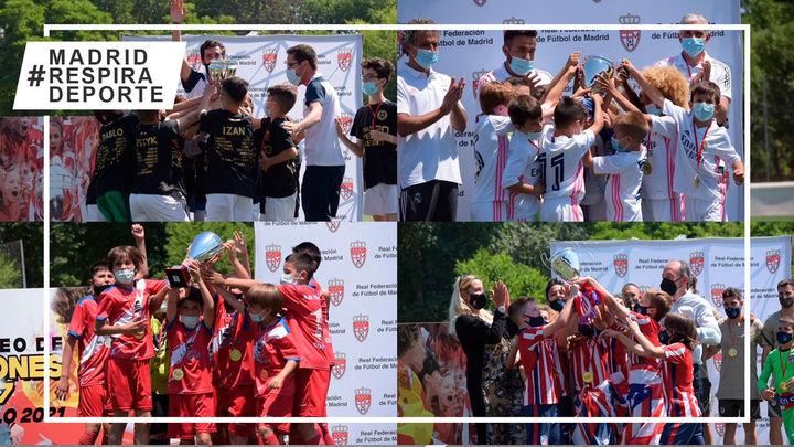Antel, Atlético, Real Madrid y Torrejón, campeones masculinos de fútbol 7