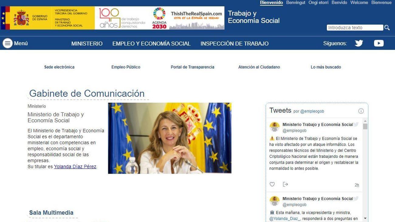 Web del Ministerio de Trabajo