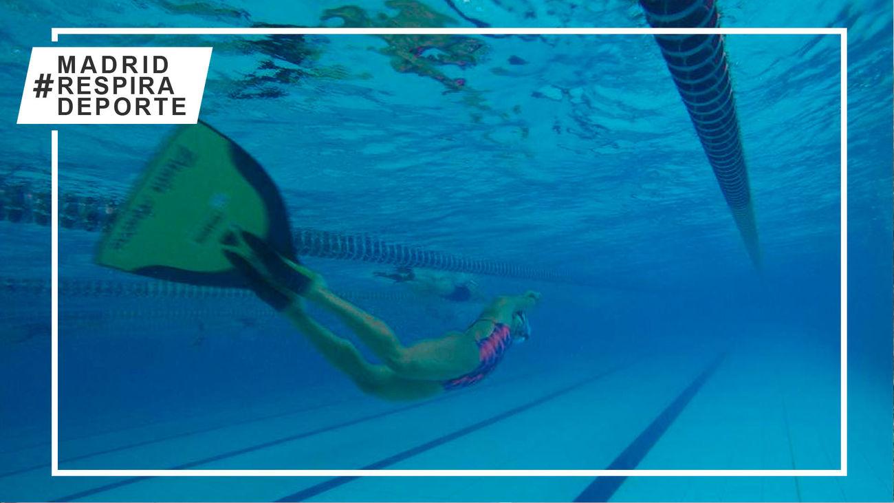 Campeonato de Madrid de Buceo en la piscina municipal de Moralzarzal