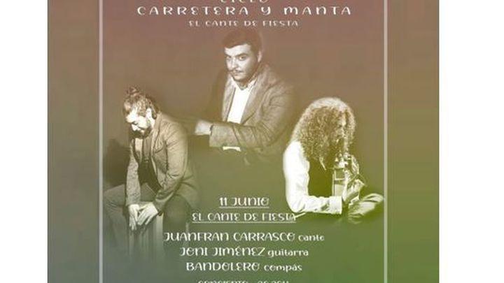 Juanfran Carrasco, Joni Jiménez y Bandolero, este viernes en las jornadas flamencas en Amor de Dios