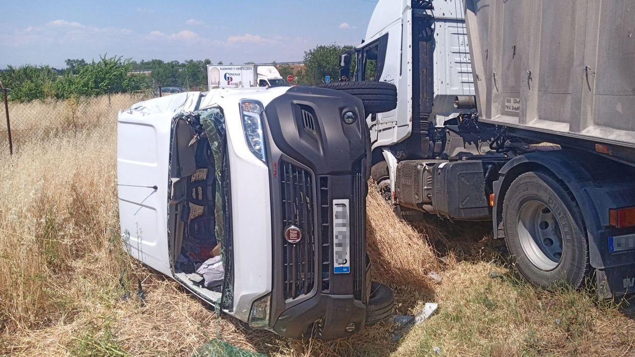 Accidente múltiple en San Fernando de Henares