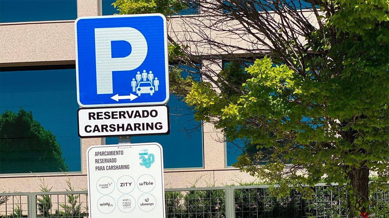 Aparcamiento reservado para carsharing