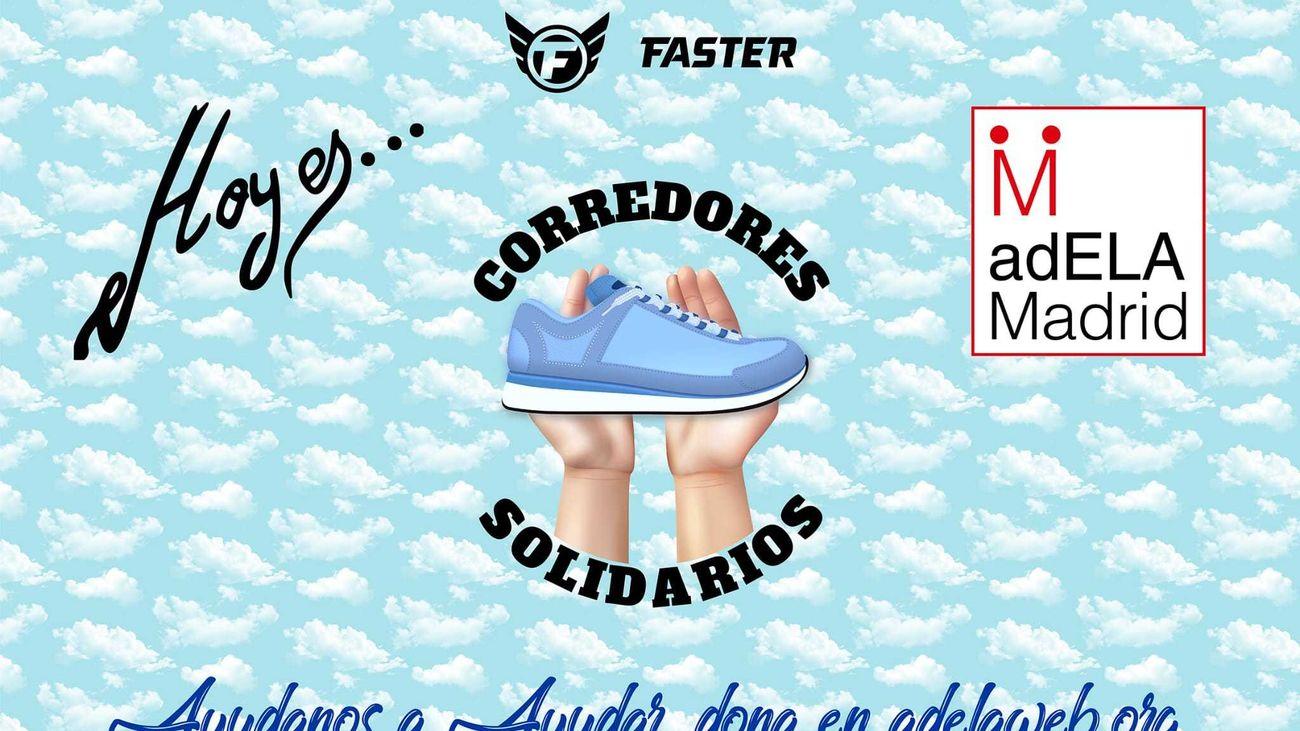 Cartel de la iniciativa solidaria a favor de los enfermos de ELA