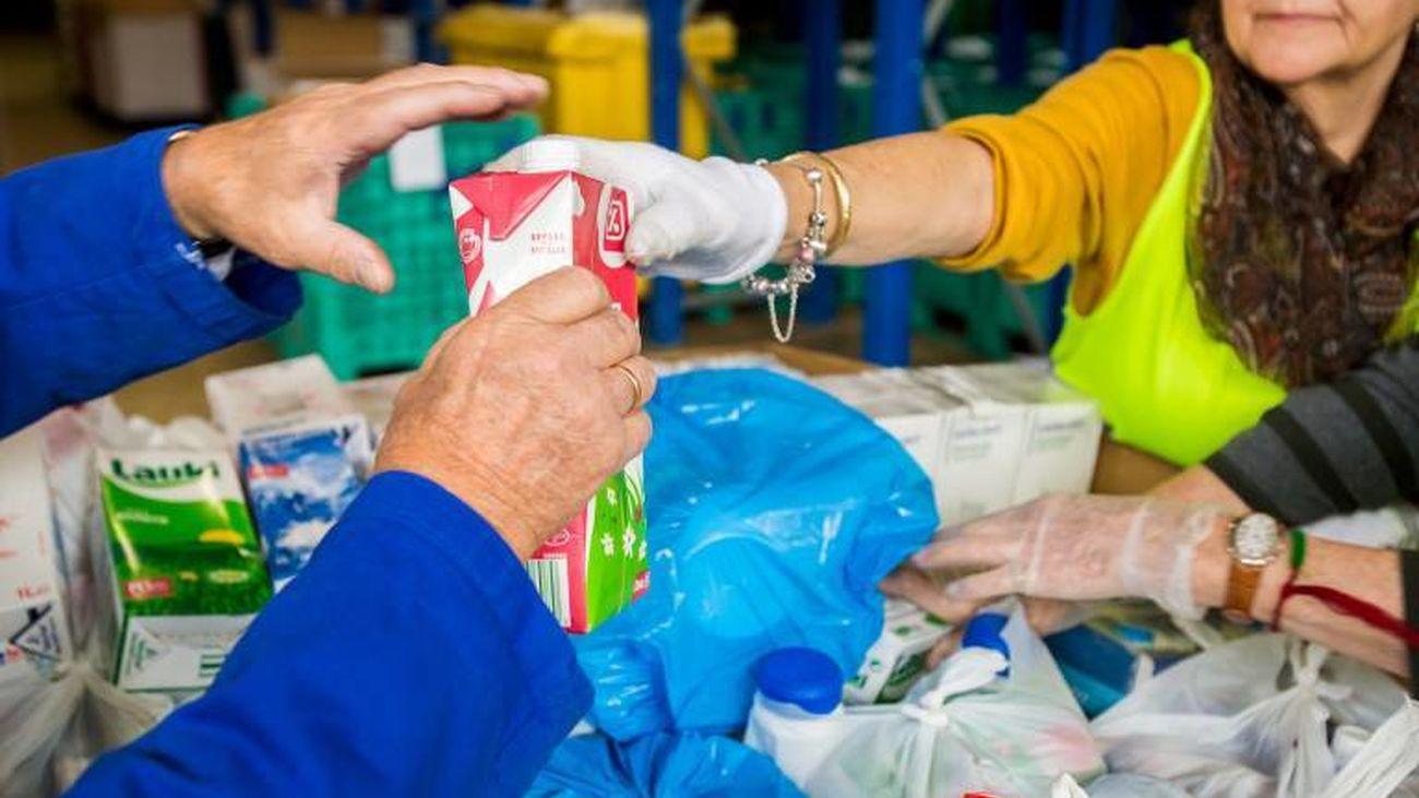 Las necesidades de alimentos para la población española más vulnerable aumentan un 50%