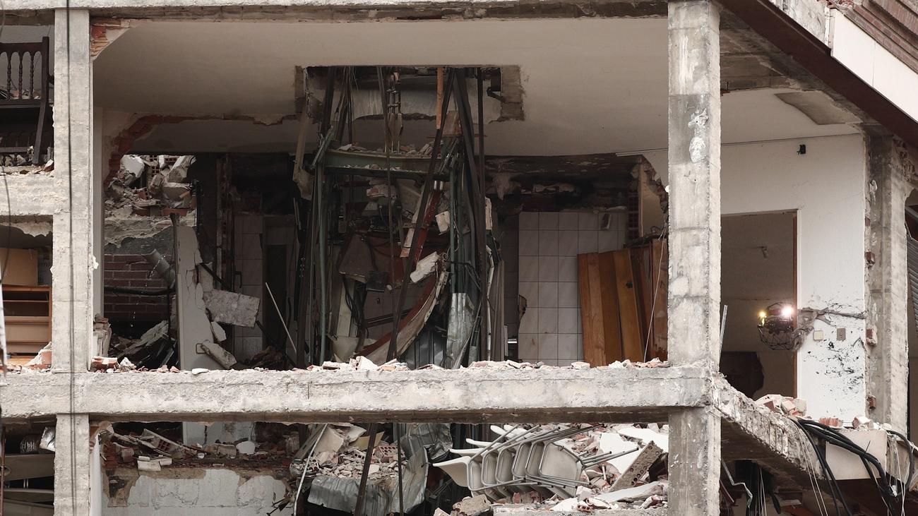 Estado del edificio de la calle Toledo tras la explosión de gas