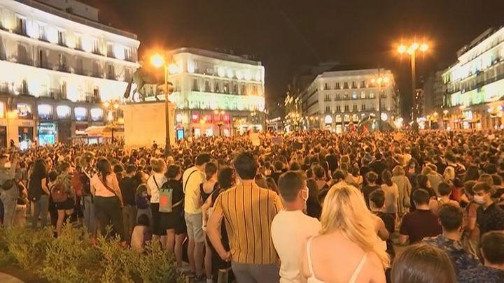 Gran concentración feminista en la Puerta del Sol tras los últimos asesinatos machistas