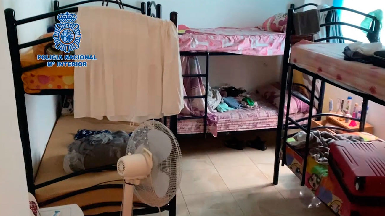 Una de las viviendas donde residían las mujeres explotadas