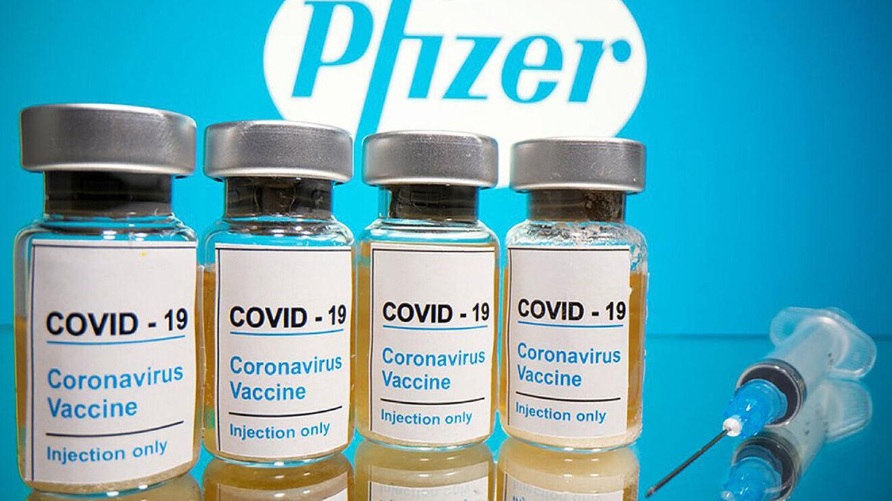 Viales de la vacuna de Pfizer