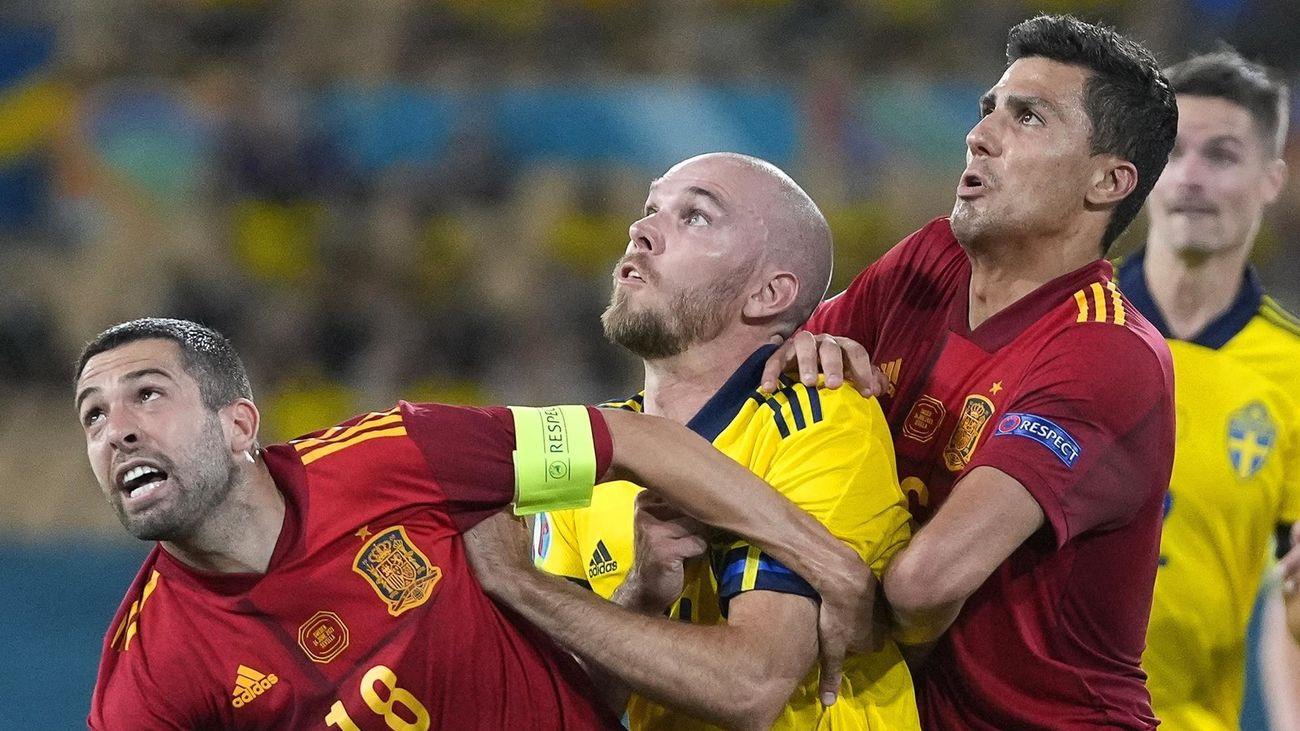 España ante Suecia