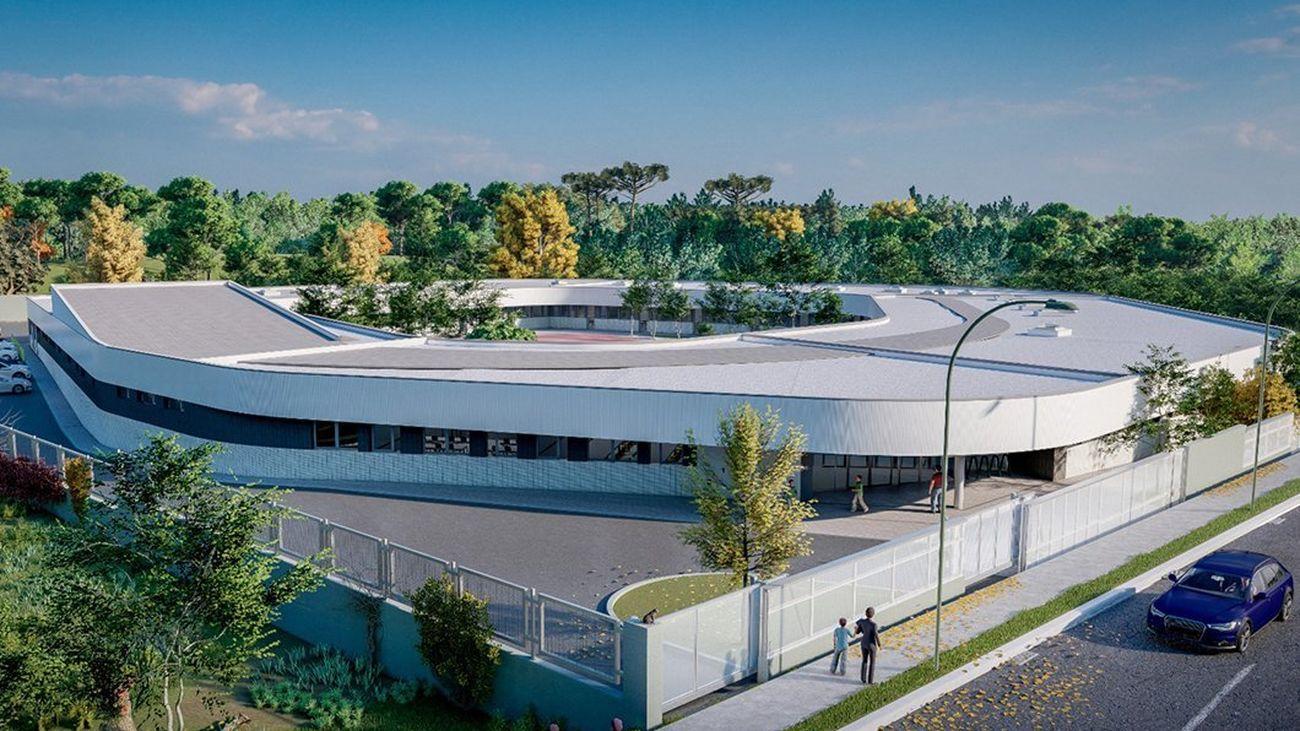 Ilustración del futuro centro de educación especial de Valdemoro