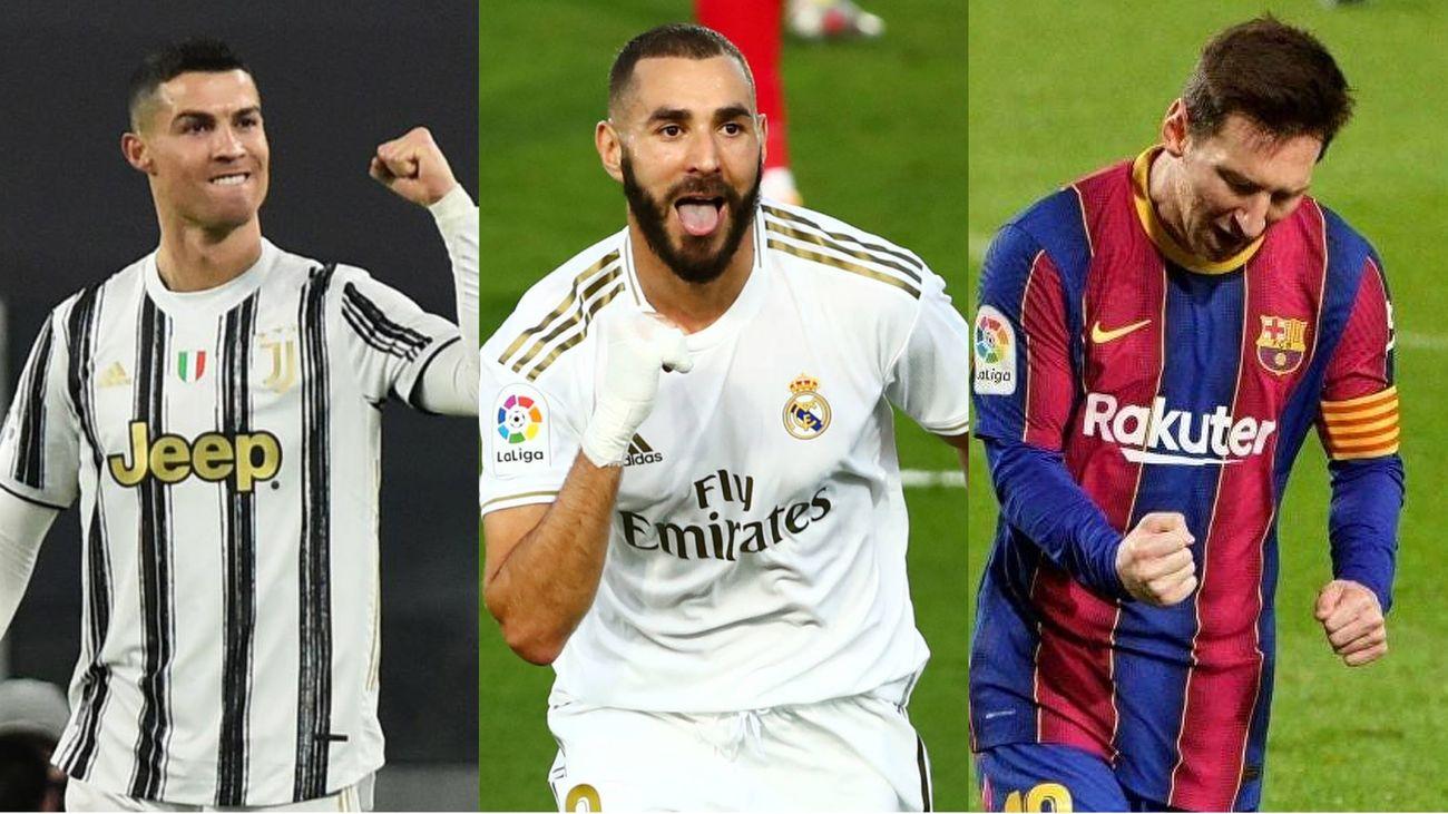 Cristiano Ronaldo, Benzema y Messi
