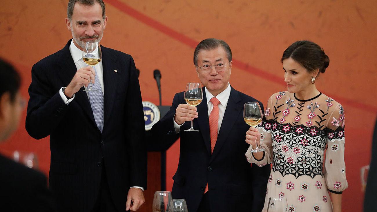 Primera visita de Estado tras la pandemia: los reyes reciben al presidente de Corea del Sur