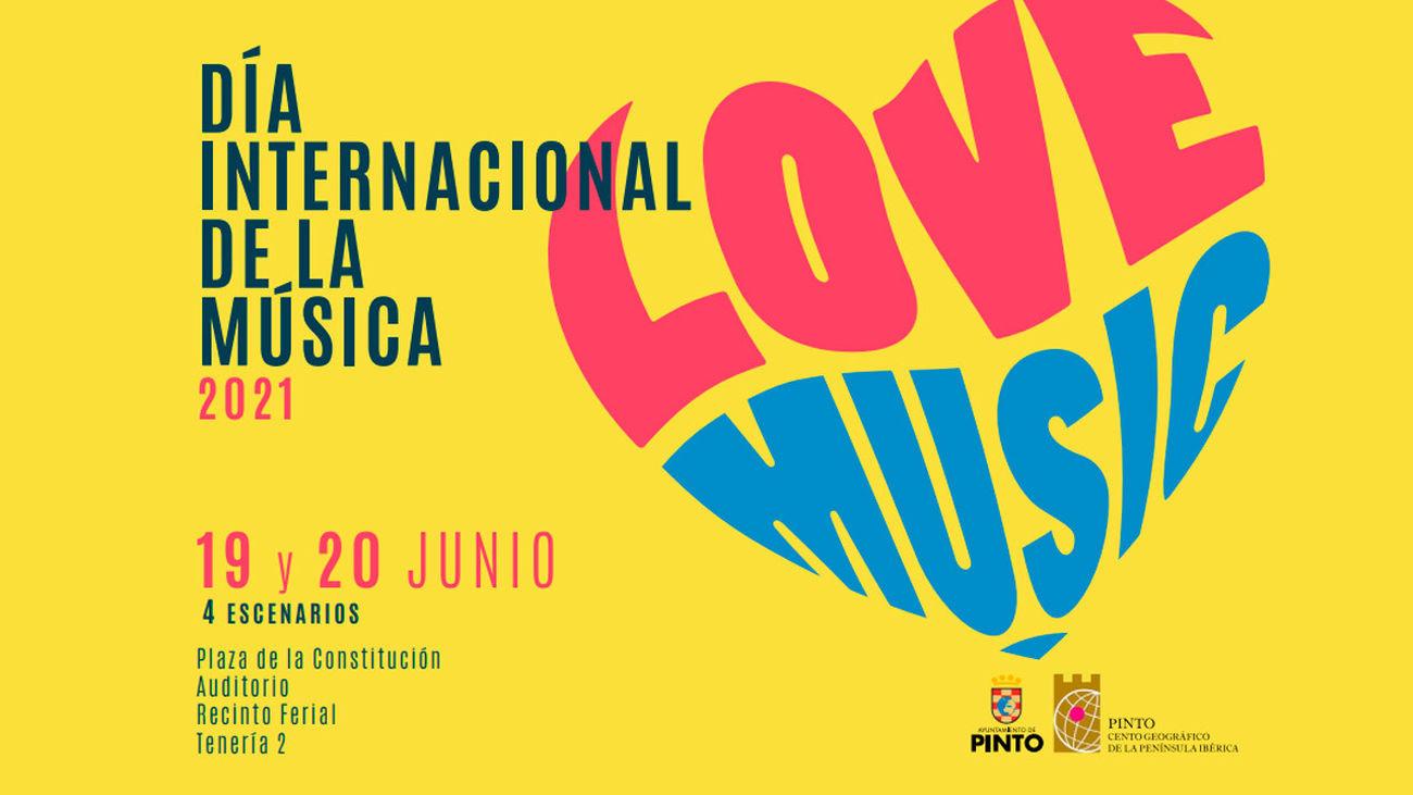 Cartel anunciador del festival 'I love music Pinto'