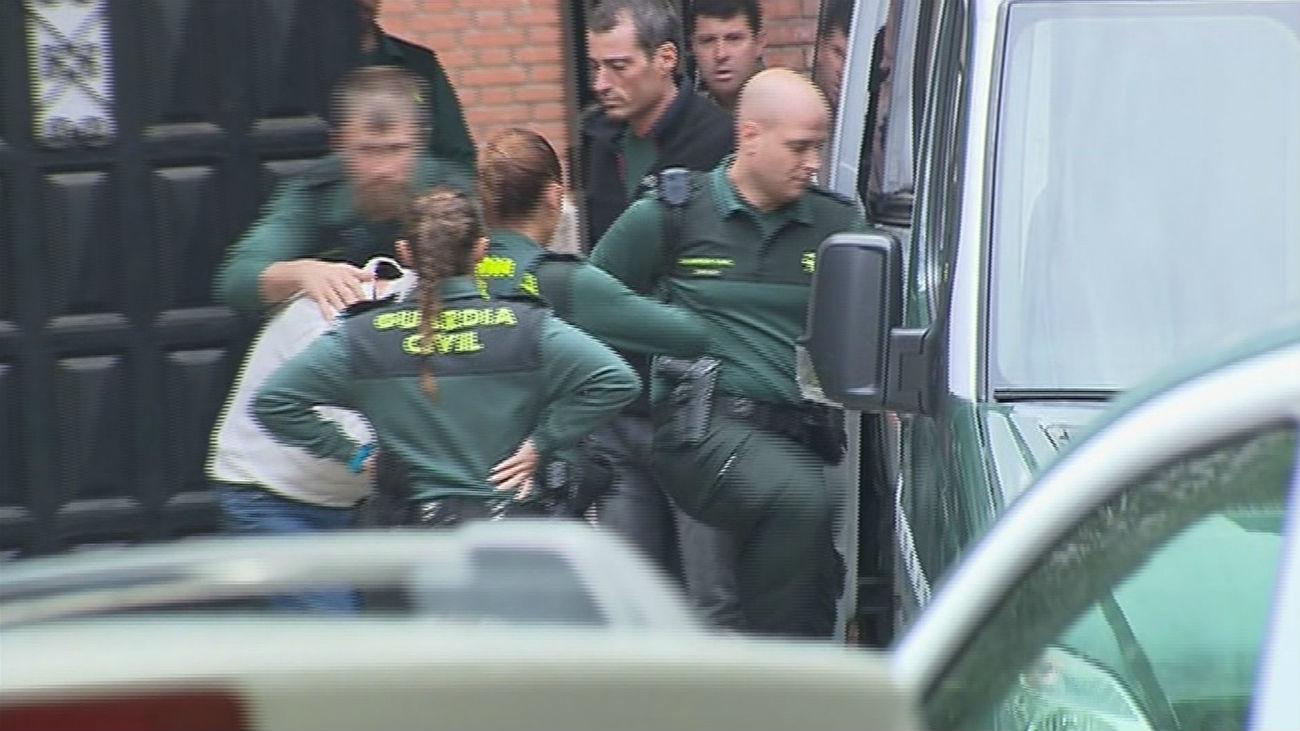 Imagen de la detención del asesino de Arganda