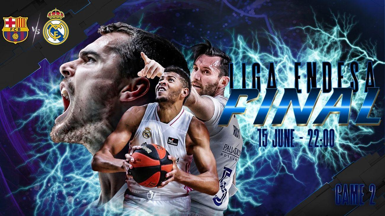 Cartel del Barcelona - Real Madrid de baloncesto