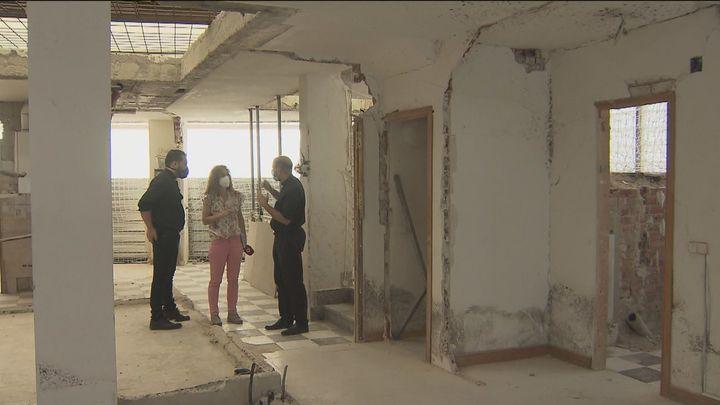 Entramos en el interior del edificio de la explosión de la calle Toledo, cinco meses después