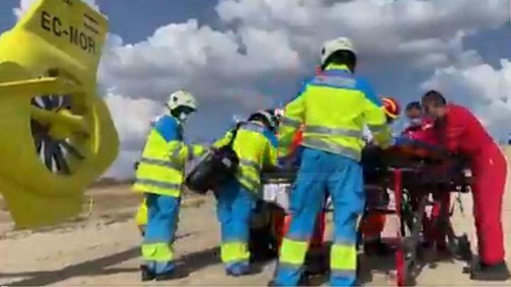 Un motociclista, herido grave al caerse en un circuito de motocross de Brunete