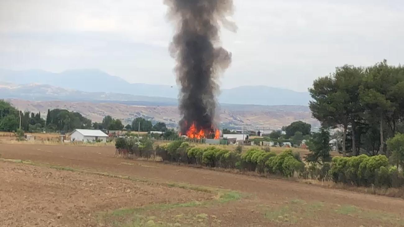 Alerta en Fuente el Saz por un llamativo incendio en una vivienda