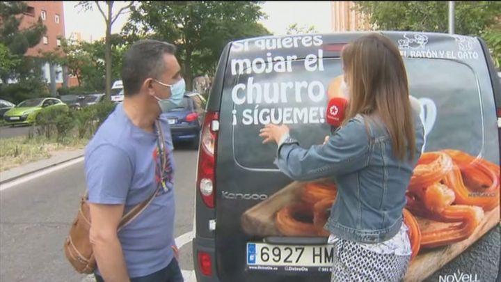 'Si quieres mojar el churro, ¡Sígueme!', el original eslogan de una churrería de Vallecas