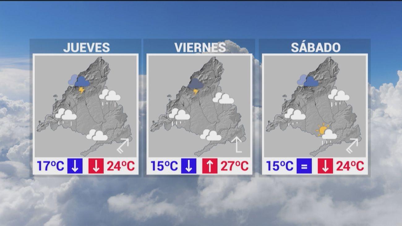 Llegan las tormentas a Madrid y precipitan una bajada brusca de los termómetros
