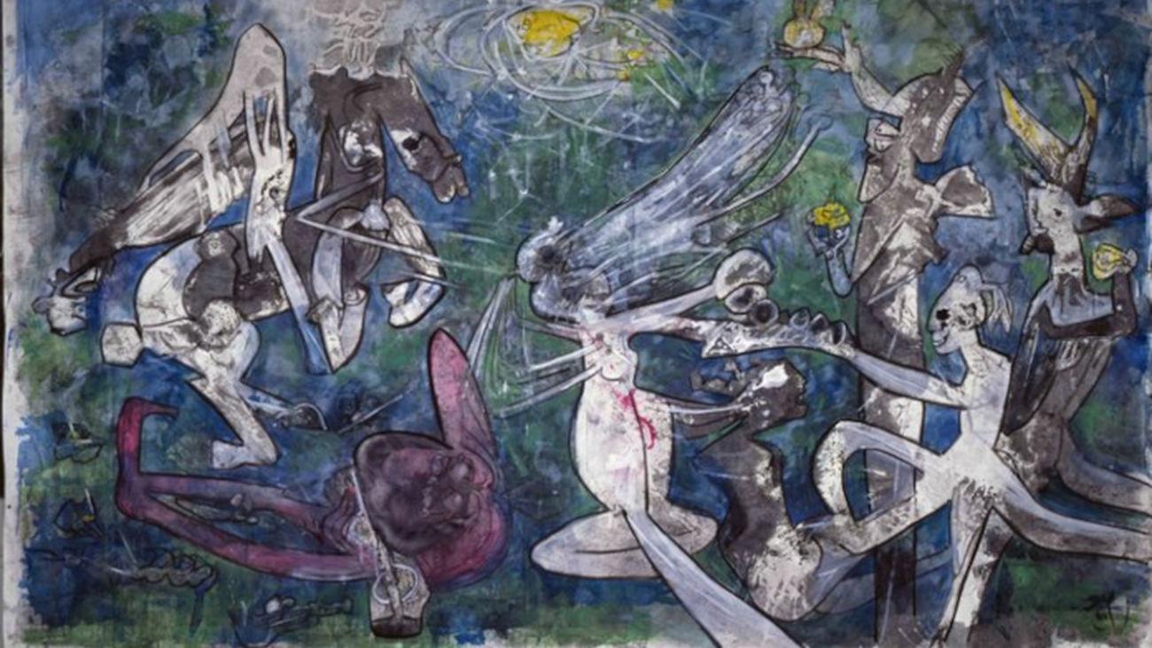 Roberto Matta: 'Munda y desnuda, la libertad contra la opresión', 1986