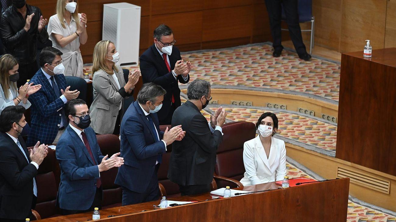 Ayuso, tras su discurso de investidura en la Asamblea de Madrid