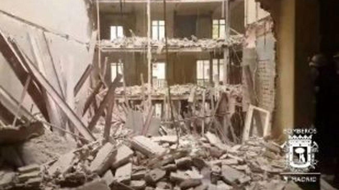 Edificio derrumbado en Martínez Campos