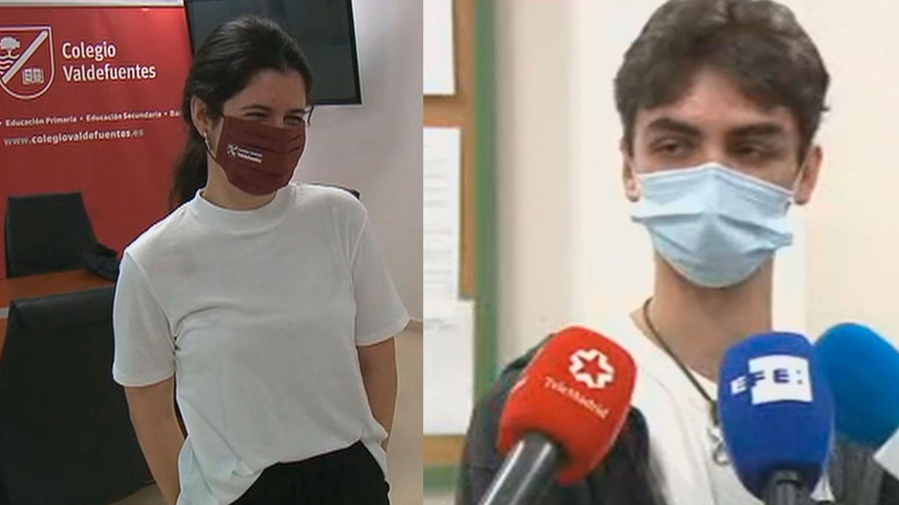 """Los dos estudiantes de Madrid con un 10 en la EvAU: """"No nos lo esperábamos"""""""