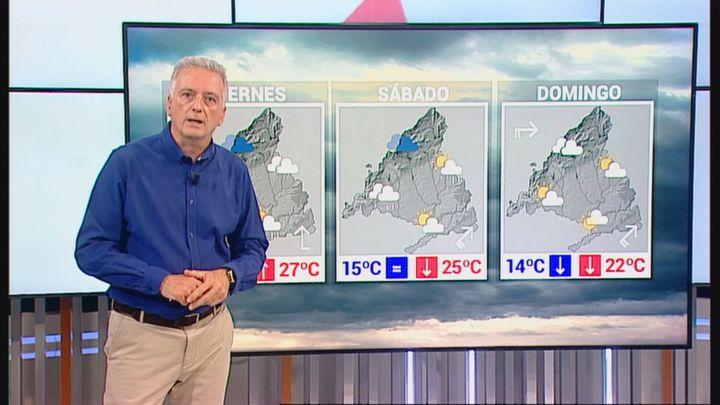 Más tormentas y granizo hasta el sábado en Madrid y desplome de diez grados el domingo