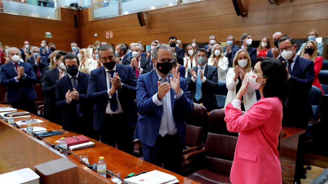 Ayuso, tras ser elegida presidenta de la Comunidad de Madrid