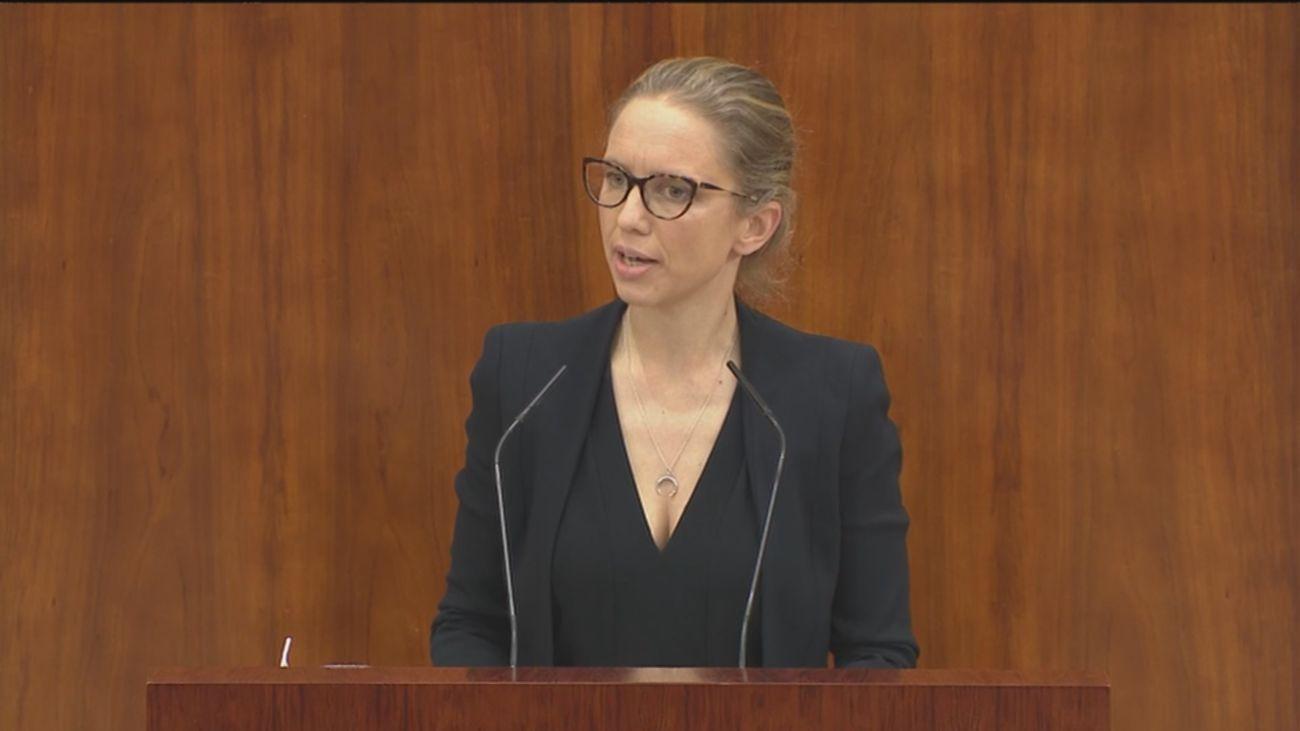 Carolina Alonso a Ayuso, portavoz de Unidas Podemos