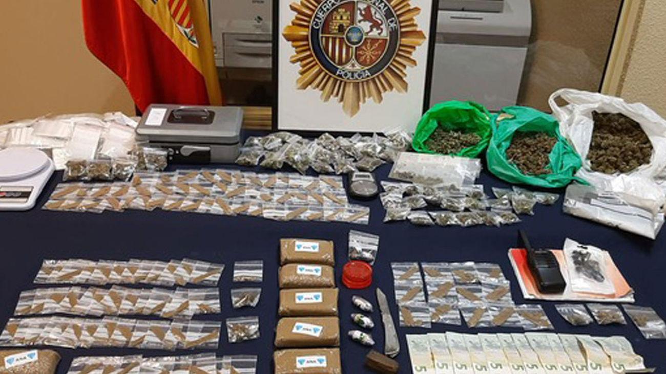 Droga incautaada por la Policía Nacional