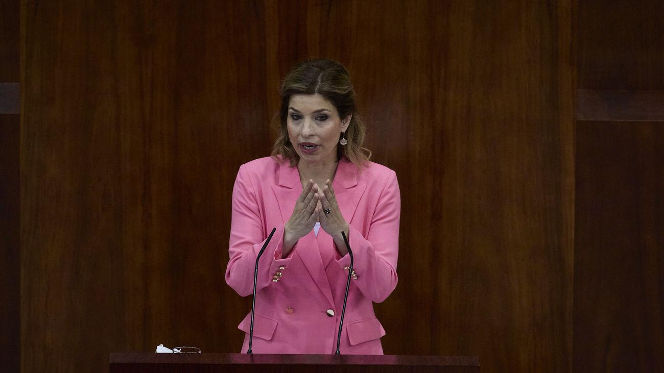Hana Jalloul , portavoz grupo socialista en la Asamblea de Madrid