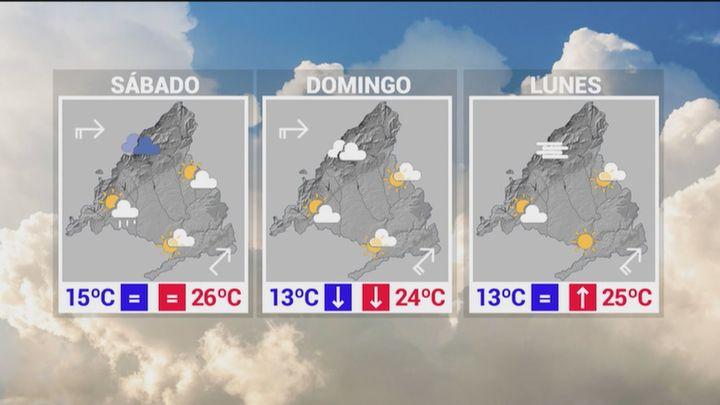Este viernes más tormentas, lluvias y granizo en Madrid