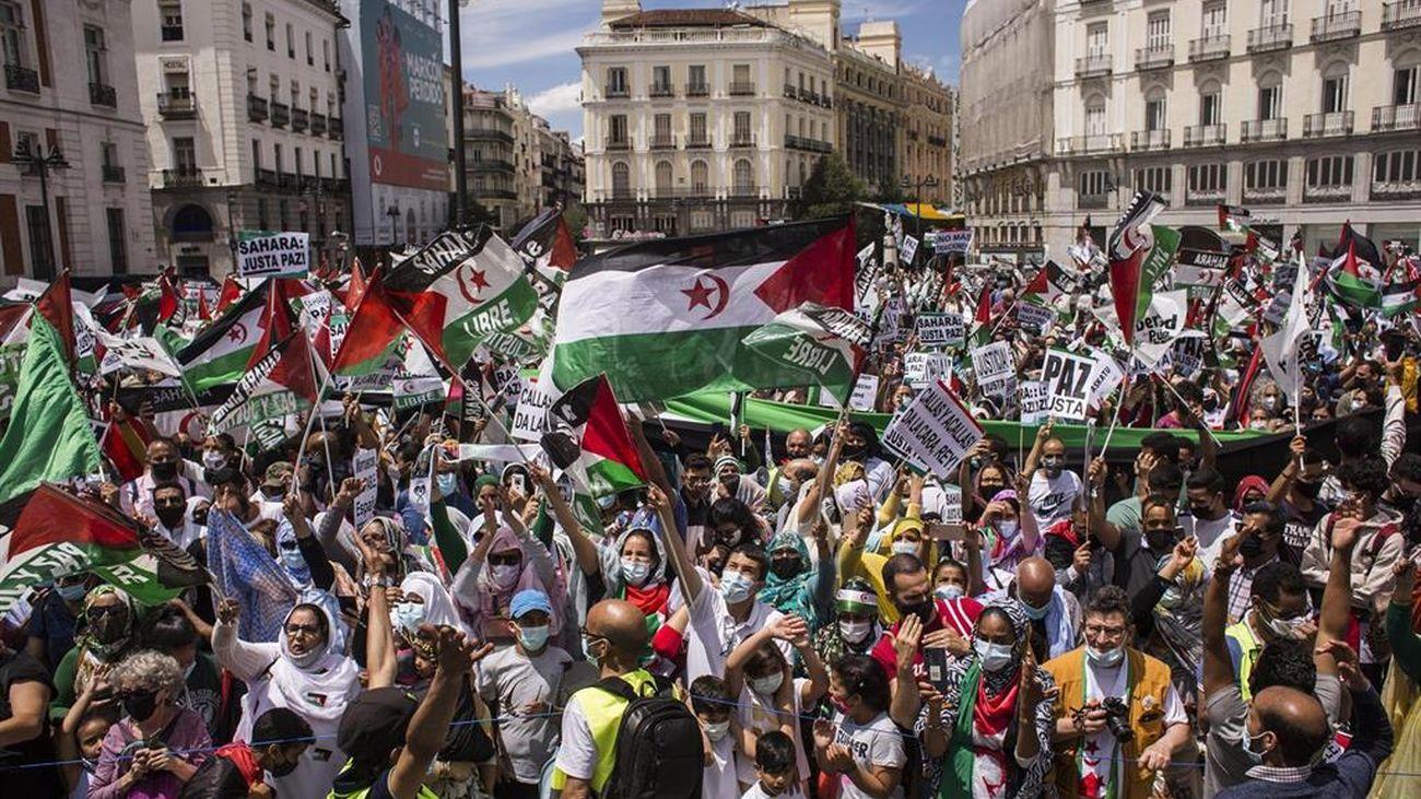 La Marcha Saharaui reúne a centenares de personas para protestar contra la vulneración de derechos en el territorio