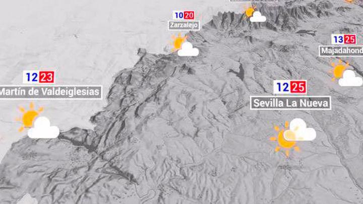 Tiempo en Madrid: Descenso de temperaturas y posibilidad de tormentas este sábado